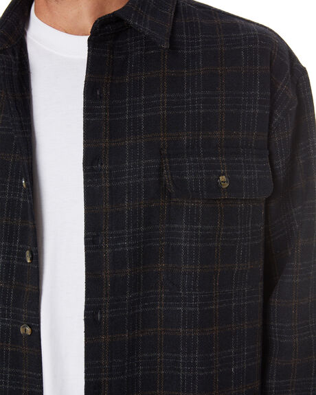 BLACK MENS CLOTHING RUSTY JACKETS - WSM0993BLK