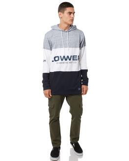 GREY WHITE MENS CLOTHING LOWER TEES - LO18Q3MLS07GRYW