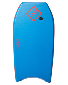 BLUE FLURO RED BOARDSPORTS SURF FOAMIE BODYBOARDS - FFLOW40DBBLUFR
