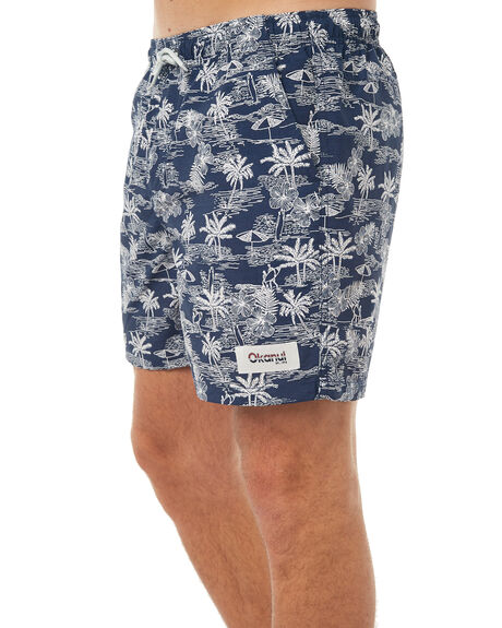 NAVY MENS CLOTHING OKANUI BOARDSHORTS - OKMSS1702-NV
