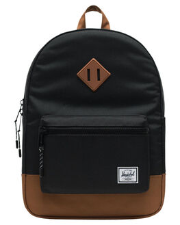 BLACK SADDLE BROWN KIDS BOYS HERSCHEL SUPPLY CO BAGS + BACKPACKS - 10312-02462-OSBSB