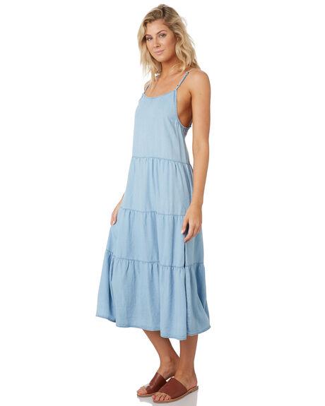 POWDERY BLUE WOMENS CLOTHING RUSTY DRESSES - DRL1028BLUE