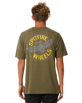 MILITARY GREEN MENS CLOTHING SPITFIRE TEES - 51010155HMGRN