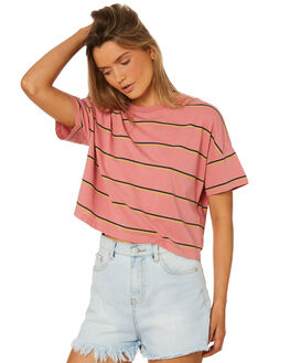 DUSTY ROSE WOMENS CLOTHING BILLABONG TEES - 6582130DU4