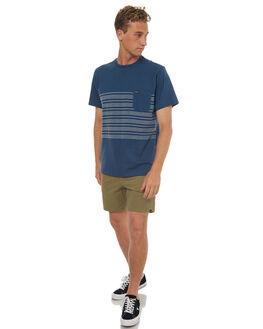 SMOKEY BLUE MARLE MENS CLOTHING VOLCOM TEES - A0141702SMB
