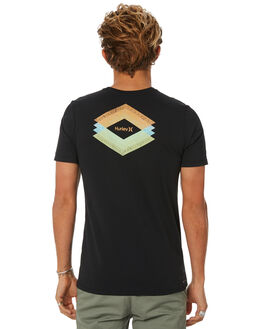 BLACK MENS CLOTHING HURLEY TEES - AJ1735010