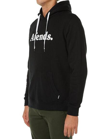 BLACK MENS CLOTHING AFENDS JUMPERS - 06-01-036BLK