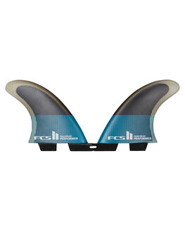 TEAL BLACK BOARDSPORTS SURF FCS FINS - FPER-PC04-RS-RTEABK