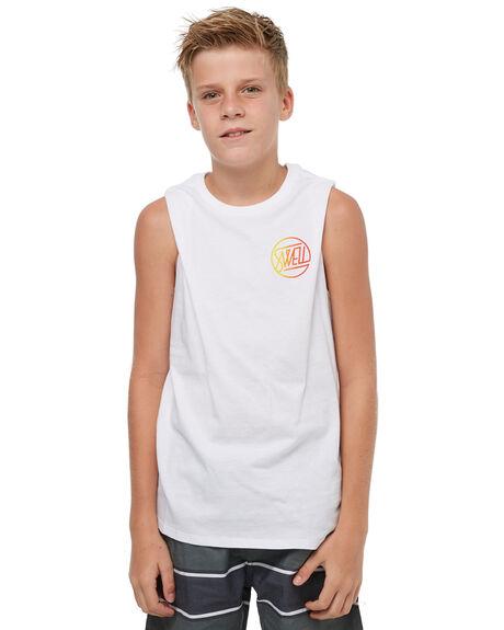WHITE KIDS BOYS SWELL SINGLETS - S3183272WHITE