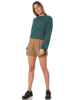 KHAKI WOMENS CLOTHING BRIXTON SHORTS - 04141KHAKI