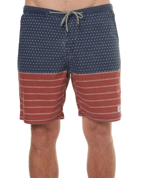 RED MENS CLOTHING KATIN BOARDSHORTS - TRBANSS17RED