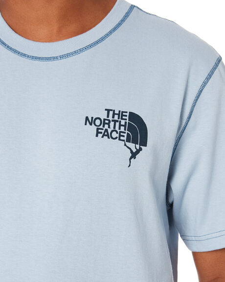 FADED BLUE WING TEAL MENS CLOTHING THE NORTH FACE TEES - NF0A4A9VP21