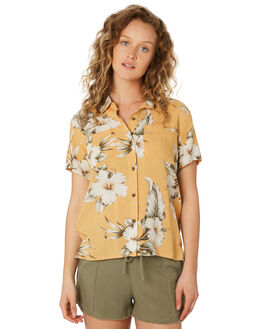 MUSTARD WOMENS CLOTHING RIP CURL FASHION TOPS - GSHFO11041