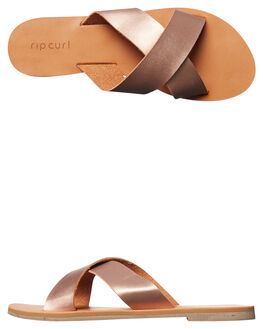 ROSE GOLD WOMENS FOOTWEAR RIP CURL SLIDES - TGTCY74093