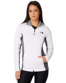 WHITE TNFDGYH WOMENS CLOTHING THE NORTH FACE JACKETS - NF0A2VG1PKYWDGY