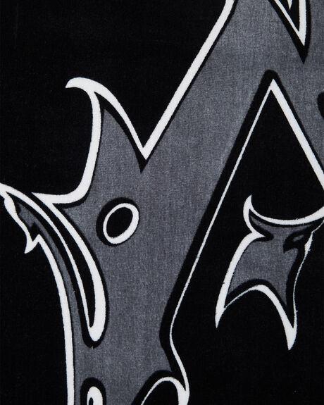 BLACK MENS ACCESSORIES RUSTY TOWELS - TWM0151BLK