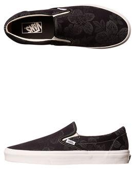 BLACK BLANC WOMENS FOOTWEAR VANS SLIP ONS - SSVN-08F7MU2BLKW