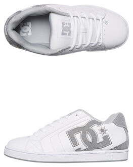 WHITE WHITE LT GREY MENS FOOTWEAR DC SHOES SKATE SHOES - 302297WWL