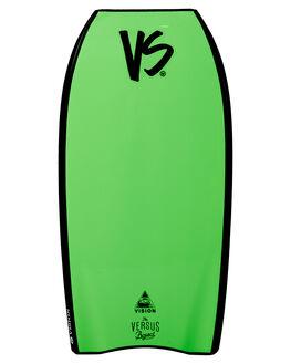 BLACK FLURO GREEN BOARDSPORTS SURF VS BODYBOARDS BOARDS - V19VISION40BLBLKFG