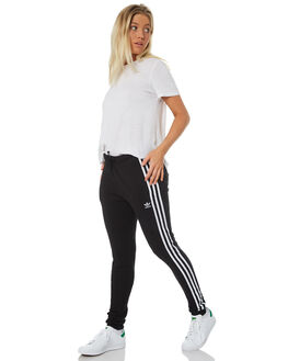 BLACK WOMENS CLOTHING ADIDAS PANTS - DH3123BLK