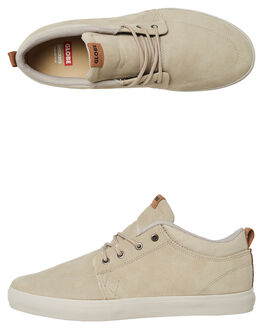 TAUPE MENS FOOTWEAR GLOBE SKATE SHOES - GBGSCHUKKA-19524