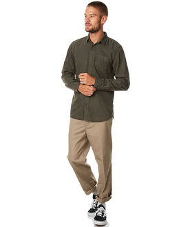 KHAKI MENS CLOTHING GLOBE PANTS - GB01736011KHA
