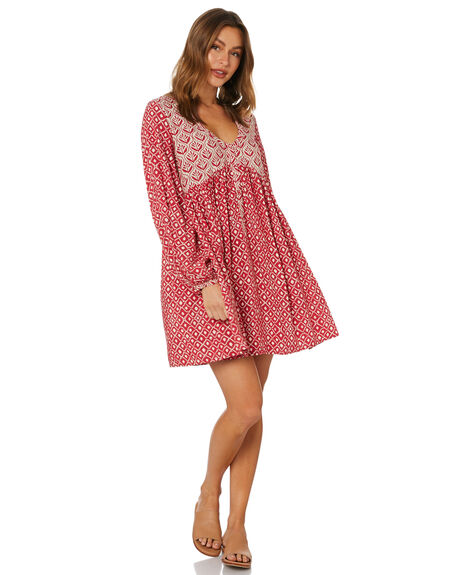 CHILLI RED WOMENS CLOTHING TIGERLILY DRESSES - T615411CHI