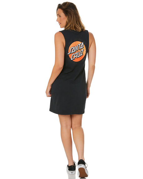 BLACK WOMENS CLOTHING SANTA CRUZ DRESSES - SC-WDC0179BLK