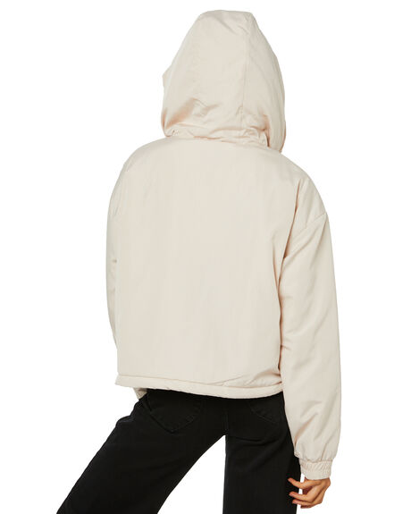 WHITE SAND WOMENS CLOTHING STUSSY JACKETS - ST116706WSND