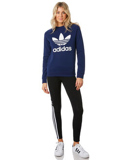 DARK BLUE WOMENS CLOTHING ADIDAS JUMPERS - DV2625BLU