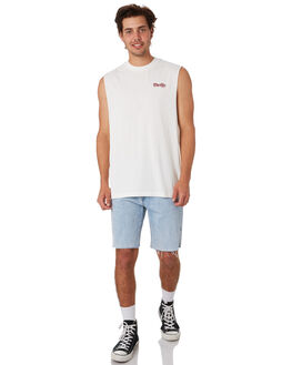 DIRTY WHITE MENS CLOTHING THRILLS SINGLETS - TS9-109ADTWHT