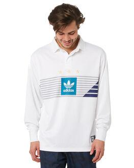 WHITE GREY TEAL MENS CLOTHING ADIDAS SHIRTS - EC7344WHGRY