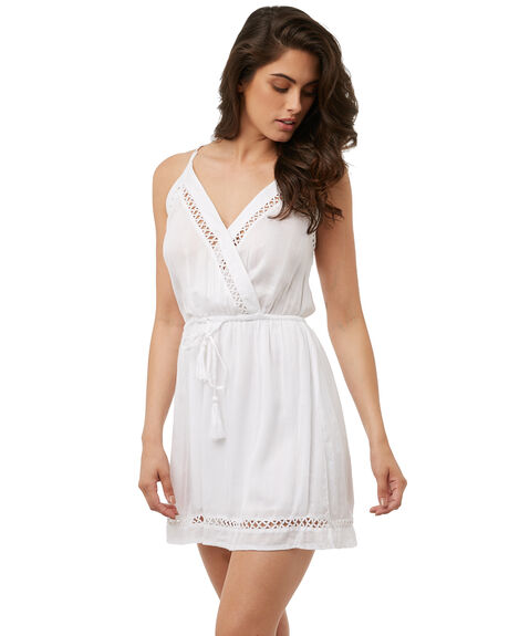 WHITE WOMENS CLOTHING RIP CURL DRESSES - GDRGF1WHITE