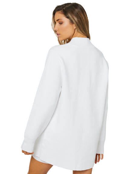 WHITE WOMENS CLOTHING ZULU AND ZEPHYR KNITS + CARDIGANS - ZZ3467WHT