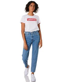BOX TAB WHITE WOMENS CLOTHING LEVI'S TEES - 17369-0370WHT
