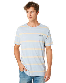 LIGHT BLUE MENS CLOTHING RIP CURL TEES - CTEPX21080