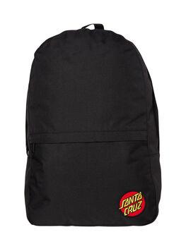 BLACK MENS ACCESSORIES SANTA CRUZ BAGS + BACKPACKS - SC-MAC9302BLK
