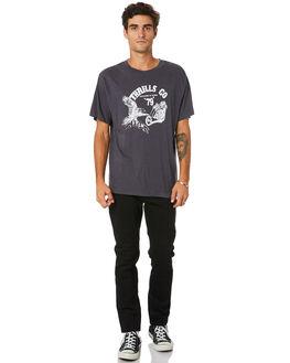 VINTAGE BLACK MENS CLOTHING THRILLS TEES - TW20-125BVVNBLK