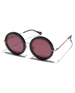 BLACK WOMENS ACCESSORIES RAEN SUNGLASSES - NOM-001-DROSE