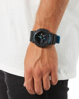 BLACK BLUE MENS ACCESSORIES G SHOCK WATCHES - GA110LN-1ABLKBL