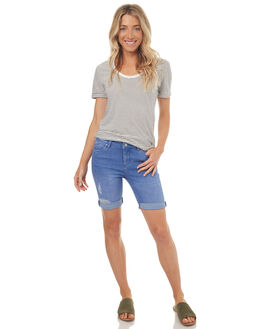 VISIONARY BLUE WOMENS CLOTHING RIDERS BY LEE SHORTS - R-551315-DP3