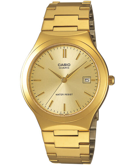 GOLD GOLD MENS ACCESSORIES CASIO WATCHES - MTP1170N9AGLD
