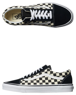 BLACK WHITE MENS FOOTWEAR VANS SNEAKERS - VNA38G1POSBLK