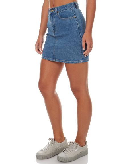 VINTAGE BLUE WOMENS CLOTHING AFENDS SKIRTS - 52-03-043VNTBL