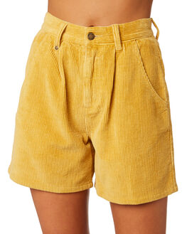 SUNLIGHT YELLOW WOMENS CLOTHING THRILLS SHORTS - WTS9-303KYEL