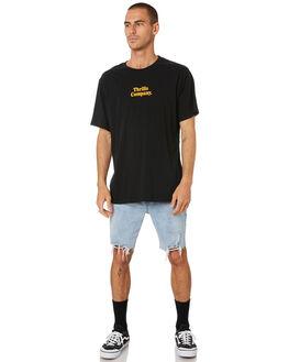 BLACK MENS CLOTHING THRILLS TEES - TR9-101BBLK