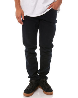 BLUE BLACK MENS CLOTHING GLOBE JEANS - GB01236003BLBK