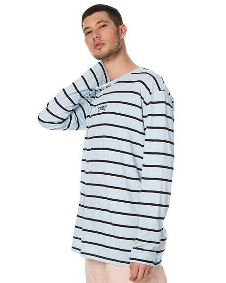 BLUE MENS CLOTHING STUSSY TEES - ST071105BLU
