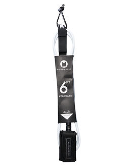 WHITE BLACK BOARDSPORTS SURF MODOM LEASHES - 20196FTSTDWMWHIBL