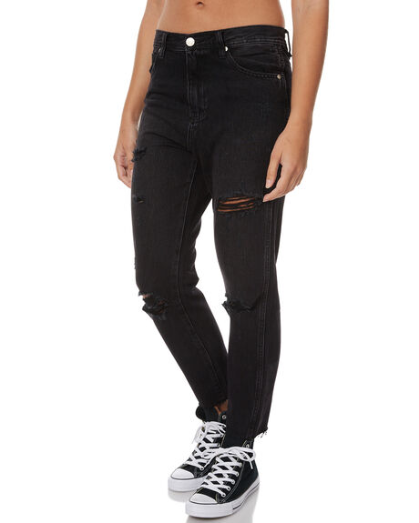 OUT BLACK WOMENS CLOTHING ZIGGY JEANS - ZW-1330BLK